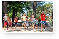 Holidays for your children,  camping Les Embruns, Lège Cap Ferret, Bassin d'Arcachon